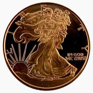 2011 American Walking Liberty 999 Copper 1 Oz Coin Ebay