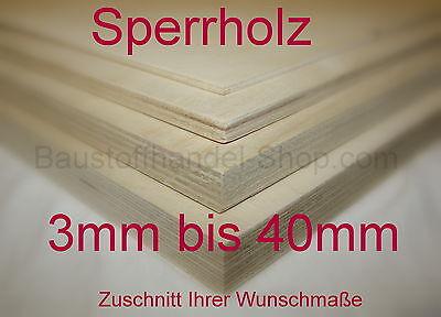 Ihre Wunschmaßsperrholzplatte 146x81cm 5mm   Birke B/BB