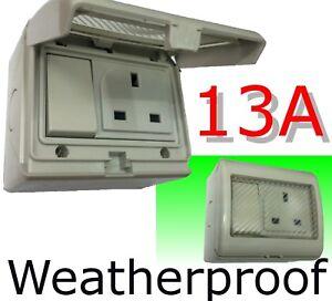 Weatherproof-1-gang-Switch-Socket-Outdoor-Gardening-13A