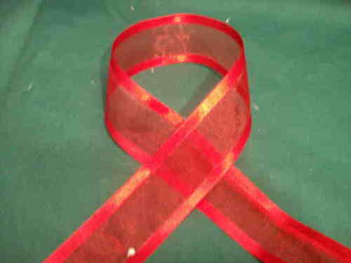 1.5 inch organza satin edged ribbon 25 yard bolt