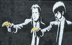 QUALITY-BANKSY-ART-PHOTO-PRINT-PULP-FICTION