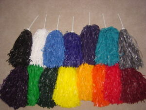 PAIR-OF-SOLID-COLOR-ROOTER-POM-POMS-Pick-your-color