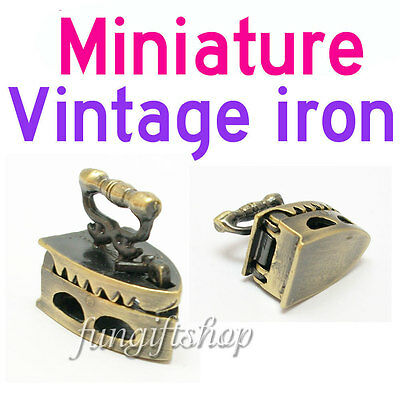 Dollhouse Miniature Vintage Metal Sewing Clothes Iron