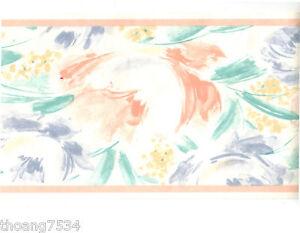Watercolor Pastel Tie Dye Floral Brush Stroke Peach Teal ...