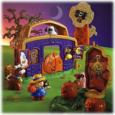 Fisher Price Little People PUMPKIN Party New Box cow Barn costume Halloween pig