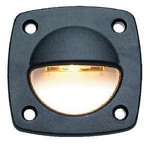 NEW LED Boat Utility Courtesy Step Deck Light BLACK Housing 12V scp 08031