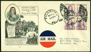 PLANTY #724-12 H. IOOR CACHET FDC BLOCK OF 4 BL7511