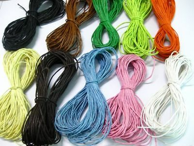 10 Strands Waxed Cotton Cord String Thread X 32.8 Feets