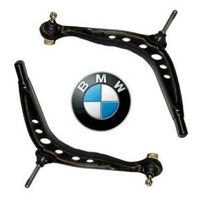 BMW-E36-318-316-320-325-328-90-01-TWO-FRONT-LOWER-WISHBONES-SUSPENSION-ARMS