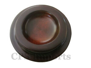 NEW-HARDWOOD-Walnut-Piano-Caster-Cups-3-1-2-Set-of-3