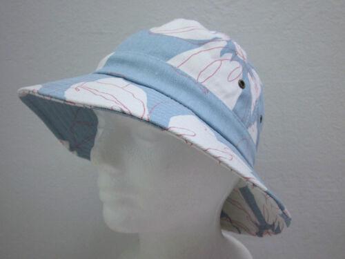 Kids OSFM New Girls Floral Print Cotton Canvas Bucket Hat