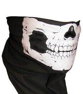 12-pieces-Skull-Jaw-Bone-Bandana-Head-Wrap-Face-Mask-Biker-Scarf-No-Reserve