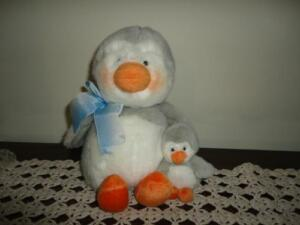 Russ IGGY Penguin with Baby Plush ADORABLE !!