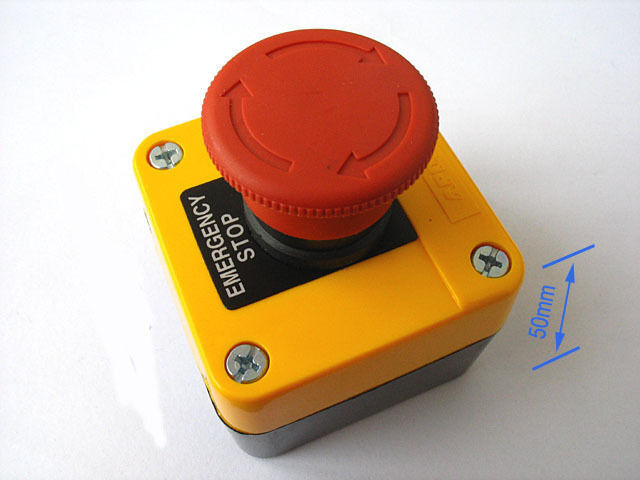Red Sign Emergency Stop Push Button 660V Switch