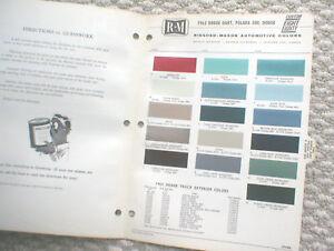 1963-DODGE-Color-Chip-Paint-Sample-Chart-Brochure-R-M