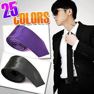 Fashion-2-5CM-Mens-Plain-Skinny-Necktie-Neck-Ties