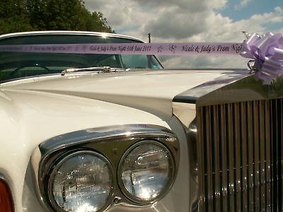 Personalised Wedding Car Birthday Prom Car Ribbon + 3 Bows Fast Posting