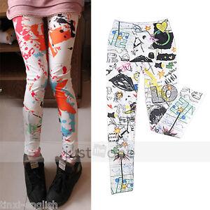 Hot-Fashion-Graffiti-Style-Sexy-Women-Girls-Soft-Stretchy-Leggings-Tights-Pants