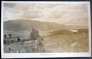 CANADA~ 1930's CRESTON B. C. ~ Real Photo PC RPPC