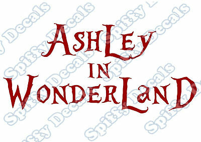 ALICE IN WONDERLAND Personalized Name Vinyl Wall Decal