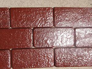 30 8x4 rustic brick molds 0922 30 concrete bricks for for Rustic brick veneer