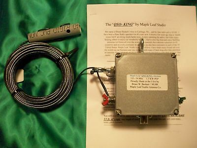 """QSO-KING"" End Fed Antenna / All HF Bands / Full Legal Power PEP / HOA Friendly"
