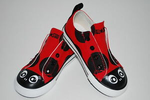 NEW-CONVERSE-LADYBUG-toddler-red-sneakers-shoe-7-8-9-10