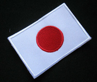 JAPAN NIPPON JAPANESE NIHON FLAG Sew on Patch Free Shipping