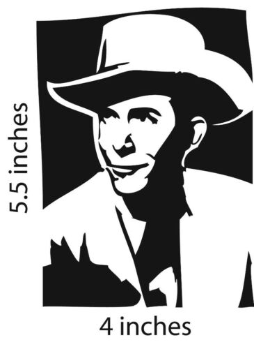2 HANK WILLIAMS Stickers Country Legend Cut Vinyl Decal Drifting Cowboys