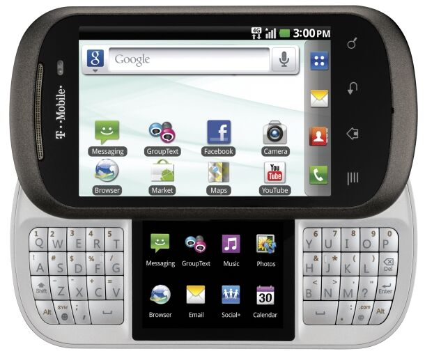 LG DoublePlay C729 - 2GB - Black (T-Mobile) Smartphone