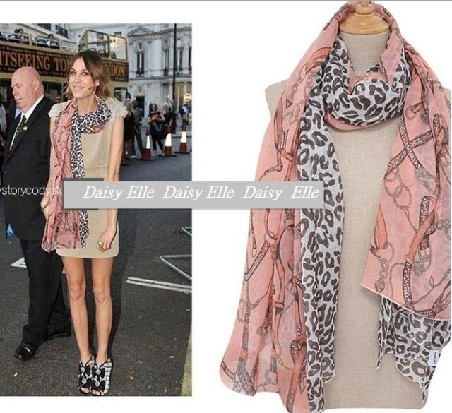 Celebrity Hollywood Star Women Leopard Pink Soft Scarf shawl Wrap