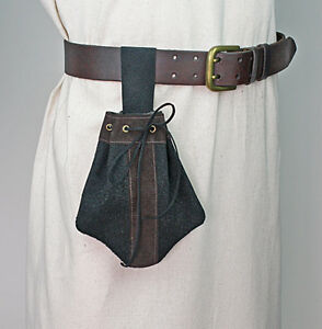 Small-Suede-Leather-Bag-Handmade-in-Renaissance-Style-with-Belt-Loop