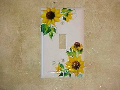 HaND PaiNTeD Sunflower Single SWITCH PLATE COVER hp