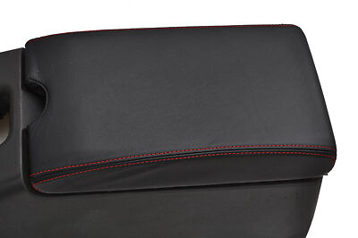 FITS LOTUS ELAN M100 LEATHER  ARMREST COVER  red  stitch