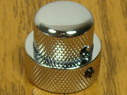 Bass Chrome MK-0137-010 NEW Concentric Stacked KNOB for Fender Strat Tele