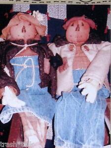 Scarecrow-cloth-doll-primitive-pattern-23-034-Sam-amp-Sally