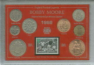Bobby-Moore-West-Ham-United-England-Captain-Hero-Legend-Coin-Stamp-Gift-Set-1966