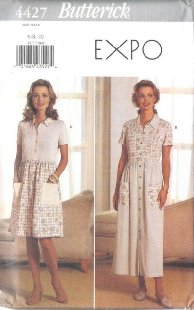 4427 UNCUT Vintage Butterick Sewing Pattern EXPO Front Button Dress Dirndl Skirt