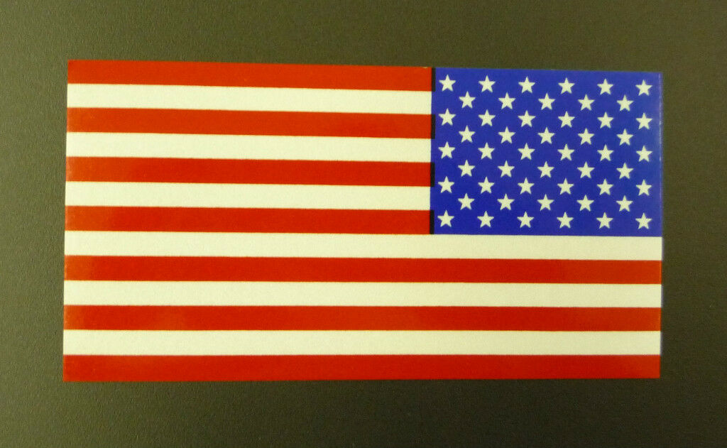 REVERSE USA FLAG ENGINEER GRADE REFLECTIVE DECAL