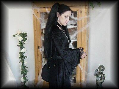 Samt Beutel Tasche mit Glöckchen Gothic Mittelalter schwarz & weitere Farben