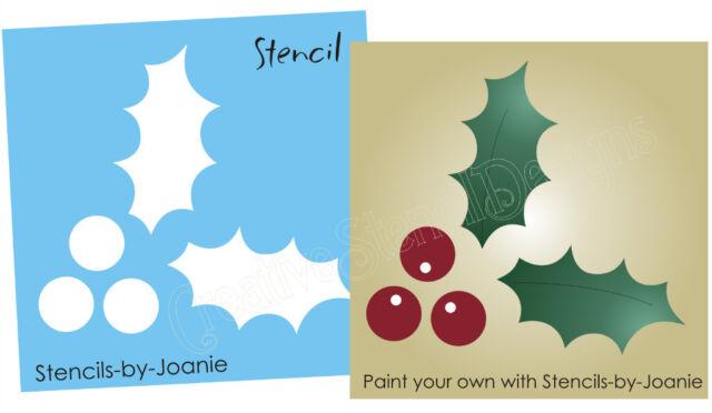 "3"" Holly Berry STENCIL Christmas Mistletoe Seasonal Holiday Primitive Craft Sign"