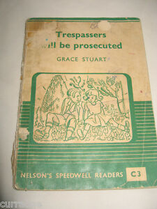 NELSON-039-S-SPEEDWELL-READER-C3-1950s-Trespassers-Will-Be-Prosecuted-SC-vintage