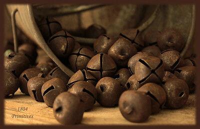 """36 ~ Primitive Rusty Tin Jingle Bells 20 mm ~ 3/4"""""""