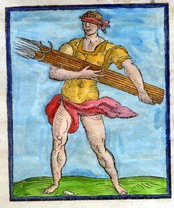 Caesar-Ripa-039-s-034-Iconologia-Overo-034-Hand-Colored-Woodcut-Emblem-1611-FURORE