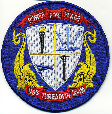 USS Threadfin SS 410 Diesel Boat Submarine Patch - BC Patch Cat. No. c6986
