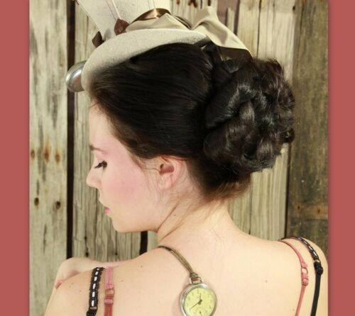 Victorian Accessories- Fan, Gloves, Purse, Belt, Spats, Wig  Victorian updo wig hair peice $62.00 AT vintagedancer.com