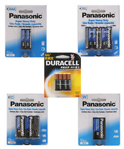 Panasonic-Duracell-Battery-AA-AAA-C-9V-Super-Heavy-Duty-Battery-Selection