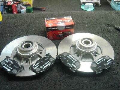 RENAULT  MEGANE 2.0iDe REAR BRAKE DISC  MINTEX PAD  BEARINGS  ABS RINGS FITTED
