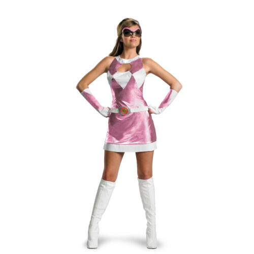 Mighty Morphin Power Rangers Sassy Sexy Pink Ranger Deluxe Dress Costume For Women
