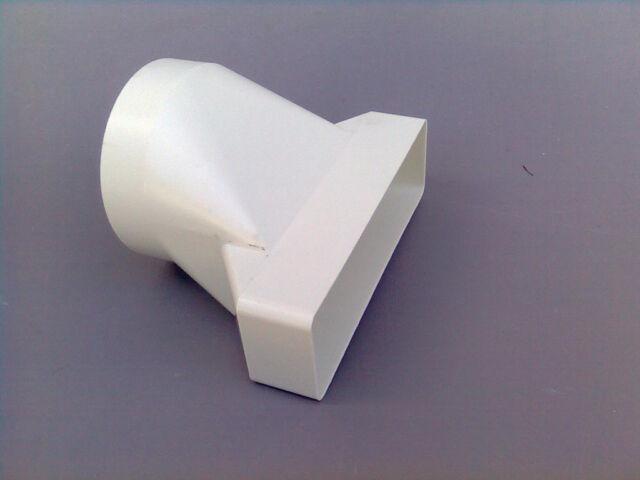 Lüftungsrohr Flachkanal 180 x 95 mm Übergang DN 150